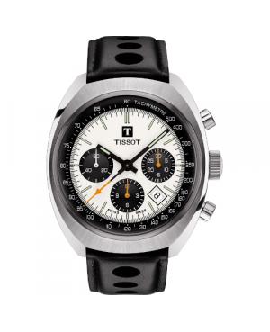 Szwajcarski, sportowy zegarek męski TISSOT Heritage 1973 T124.427.16.031.00 (T1244271603100)