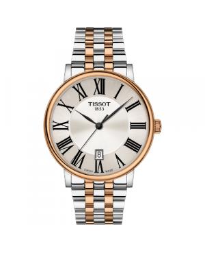 Szwajcarski, elegancki zegarek męski TISSOT Carson Premium T122.410.22.033.00 (T1224102203300)