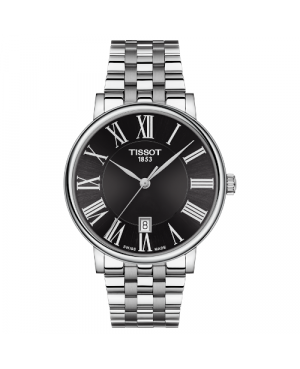 Szwajcarski, elegancki zegarek męski TISSOT Carson Premium T122.410.11.053.00 (T1224101105300)