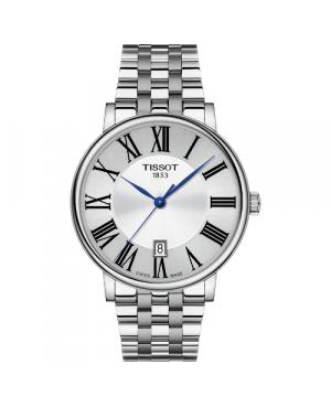 Szwajcarski elegancki zegarek męski TISSOT Carson Premium T122.410.11.033.00 (T1224101103300)
