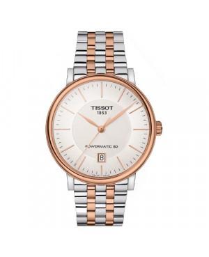 Szwajcarski, klasyczny zegarek męski TISSOT Carson Premium Powermatic 80 T122.407.22.031.01 (T1224072203101)