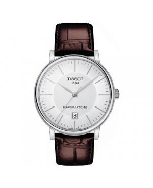 Szwajcarski, elegancki zegarek męski TISSOT Carson Premium T122.407.16.031.00 (T1224071603100)
