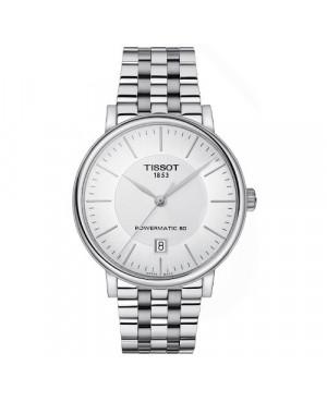 Szwajcarski, klasyczny zegarek męski TISSOT Carson Premium T122.407.11.031.00 (T1224071103100)