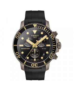 Sportowy zegarek męski TISSOT Seastar 1000 Chronograph T120.417.37.051.01 (T1204173705101)