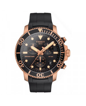 Sportowy zegarek męski TISSOT Seastar 1000 Chronograph T120.417.37.051.00 (T1204173705100)
