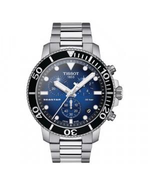 Sportowy zegarek męski TISSOT Seastar 1000 Chronograph T120.417.11.041.01 (T1204171104101) zegarek szwajcarski szafirowe szkło