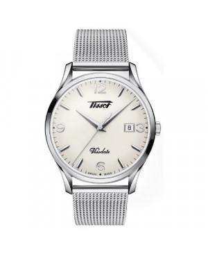 Szwajcarski, klasyczny zegarek męski TISSOT Visodate T118.410.11.277.00 (T1184101127700)