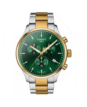 Klasyczny zegarek męski TISSOT Chrono XL T116.617.22.091.00 (T1166172209100) zegarek szwajcarski z szafirowym szkłem