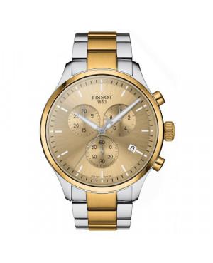 Klasyczny zegarek męski TISSOT Chrono XL T116.617.22.021.00 (T1166172202100) zegarek szwajcarski z szafirowym szkłem