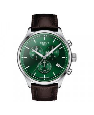 Klasyczny zegarek męski TISSOT Chrono XL T116.617.16.091.00 (T1166171609100) zegarek szwajcarski z szafirowym szkłem