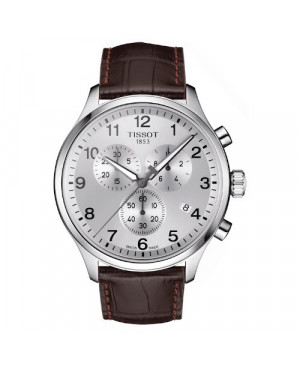 Sportowy zegarek męski TISSOT Chrono XL T116.617.16.037.00 (T1166171603700) zegarek szwajcarski szkło szafirowe