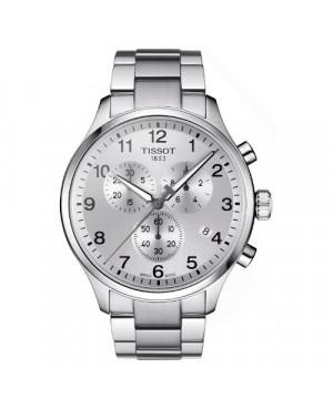 Sportowy zegarek męski TISSOT Chrono XL T116.617.11.037.00 (T1166171103700) zegarek szwajcarski szkło szafirowe