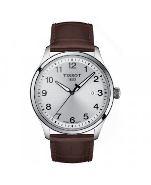 Klasyczny zegarek męski TISSOT Gent XL T116.410.16.037.00 (T1164101603700) zegarek szwajcarski szkło szafirowe