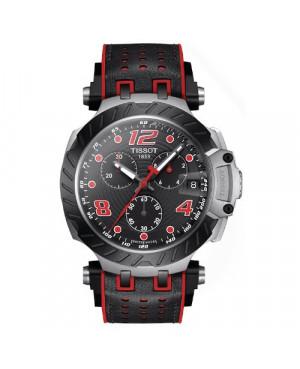 TISSOT T115.417.27.057.04 T-Race Chronograph (T1154172705704) zegarek męski sportowy szwajcarski z szafirowym szkłem