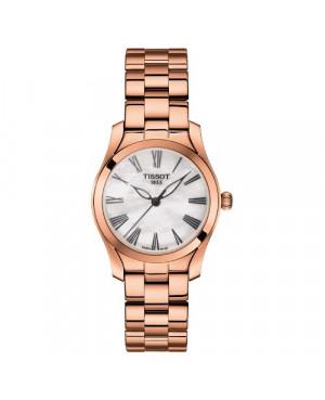 Szwajcarski, elegancki zegarek damski TISSOT T-Wave T112.210.33.113.00 (T1122103311300) szafirowe szkło
