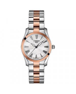 Szwajcarski, elegancki zegarek damski TISSOT T-Wave T112.210.22.113.01 (T1122102211301)