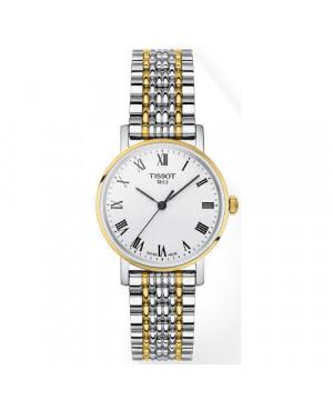 Szwajcarski, klasyczny zegarek damski TISSOT Everytime Small T109.210.22.033.00 (T1092102203300) na bransolecie