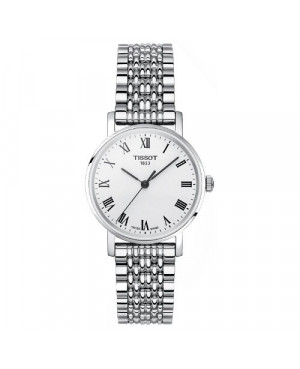 Szwajcarski, klasyczny zegarek damski TISSOT Everytime Small T109.210.11.033.00 (T1092101103300) na bransolecie