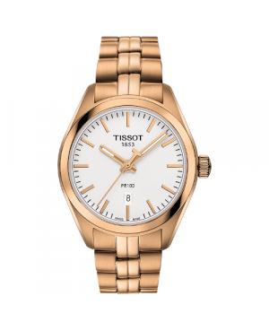 Szwajcarski, klasyczny zegarek męski TISSOT PR 100 T101.210.33.031.01 (T1012103303101) na bransolecie szkło szafirowe