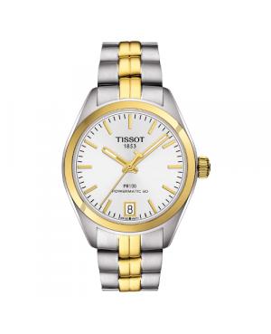 Szwajcarski, klasyczny zegarek damski TISSOT PR 100 AUTO CLASSIC T101.207.22.031.00 (T1012072203100) mechanizm automatyczny