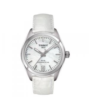 Szwajcarski, klasyczny zegarek damski TISSOT PR 10 AUTO CLASSIC T101.207.16.111.00 (T1012071611100) mechanizm automatyczny