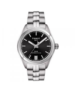Szwajcarski, klasyczny zegarek damski TISSOT PR 100 AUTO CLASSIC T101.207.11.051.00 (T1012071105100) na bransolecie