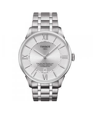 Elegancki zegarek męski TISSOT CHEMIN DES TOURELLES T099.408.11.038.00 (T0994081103800)