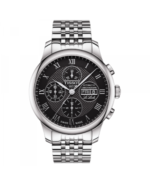 Klasyczny zegarek męski TISSOT Le Locle Valjoux Chronograph T006.414.11.053.00 (T0064141105300)