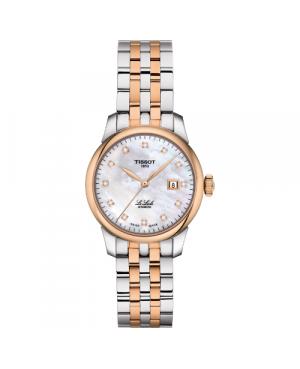 Szwajcarski, elegancki zegarek damski TISSOT Le Locle Automatic Lady T006.207.22.116.00 (T0062072211600) klasyczny z diamentami