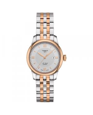 Szwajcarski, elegancki zegarek damski TISSOT Le Locle Automatic Lady T006.207.22.038.00 (T0062072203800) klasyczny automatyczny