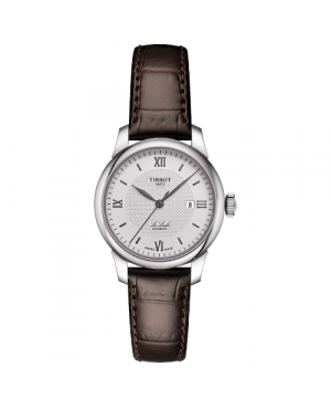 Szwajcarski, klasyczny zegarek damski TISSOT Le Locle Automatic Lady T006.207.16.038.00 (T0062071603800) elegancki na pasku