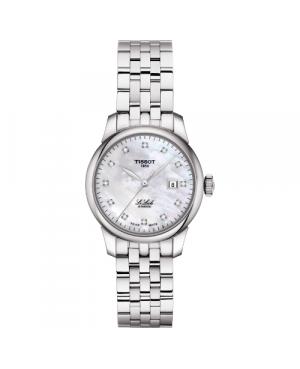 Szwajcarski, elegancki zegarek damski TISSOT Le Locle Automatic Lady T006.207.11.116.00 (T0062071111600) z diamentami
