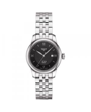 Szwajcarski, klasyczny zegarek damski TISSOT Le Locle Automatic Lady T006.207.11.058.00 (T0062071105800) na bransolecie