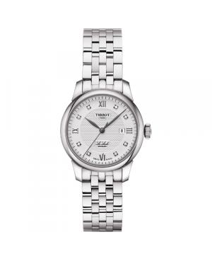 Szwajcarski, klasyczny zegarek damski TISSOT Le Locle Automatic Lady T006.207.11.036.00 (T0062071103600) na bransolecie