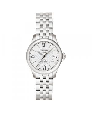 Szwajcarski, elegancki zegarek damski TISSOT Le Locle Automatic Small Lady T41.1.183.33 (T41118333) z cyframi na bransolecie