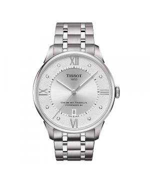 Elegancki zegarek męski Tissot Chemin des Tourelles Powermatic 80 T099.407.11.033.00 (T0994071103300)