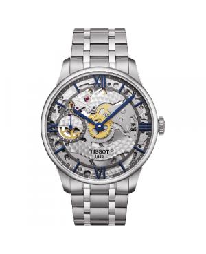 Szwajcarski, elegancki zegarek męski TISSOT Chemin des Tourelles T099.405.11.418.00 (T0994051141800)