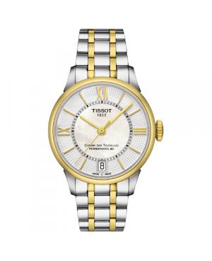 Szwajcarski, klasyczny zegarek damski TISSOT Chemin des Tourelles Powermatic 80 Lady T099.207.22.118.00 (T0992072211800)