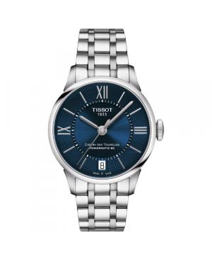 Szwajcarski, klasyczny zegarek damski TISSOT Chemin des Tourelles Powermatic 80 Lady T099.207.11.048.00 (T0992071104800)