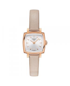 Szwajcarski, elegancki zegarek damski TISSOT Lovely Square T058.109.36.031.00 (T0581093603100)