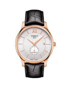 Elegancki zegarek męski TISSOT Tradition Automatic Small Second T063.428.36.038.00 (T0634283603800)