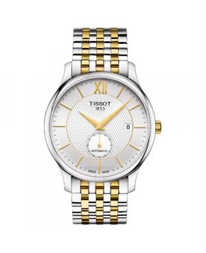 Elegancki zegarek męski TISSOT Tradition Automatic Small Second T063.428.22.038.00 (T0634282203800)