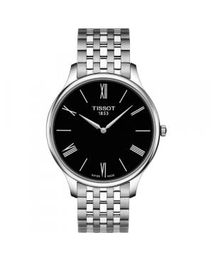 Elegancki zegarek męski TISSOT Tradition T063.409.11.058.00 (T0634091105800)