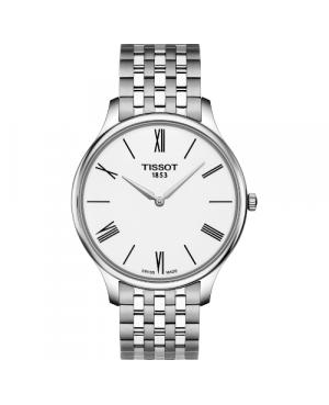 Elegancki zegarek męski TISSOT Tradition 5.5 T063.409.11.018.00 (T0634091101800)