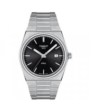 TISSOT T137.410.11.051.00 zegarek męski  klasyczny z szafirowym szkłem szwajcarski kwarcowy na bransolecie do pływania