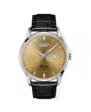 TISSOT T118.430.16.021.00 HERITAGE VISODATE POWERMATIC 80 zegarek męski klasyczny szwajcarski z szafirowym szkłem automatyczny