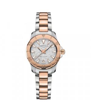 Szwajcarski, biżuteryjny zegarek damski CERTINA DS ACTION C032.951.22.031.00 (C0329512203100)