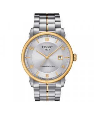 Klasyczny zegarek męski TISSOT LUXURY POWERMATIC 80 T086.407.22.037.00 (T0864072203700)