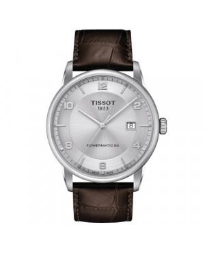 Klasyczny zegarek męski TISSOT LUXURY POWERMATIC 80 T086.407.16.037.00 (T0864071603700)
