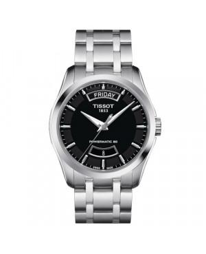 Elegancki zegarek męski TISSOT Couturier Powermatic 80 T035.407.11.051.01 (T0354071105101)